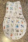 Aden + Anais Cotton Muslin Easy Swaddle Baby Sleep Sack Wrap Alphabet S/M 0-3m