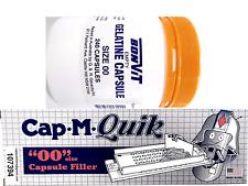 CAP-M-QUIK Capsule Filling Machine FILLER with 240 x '00' Size GELATINE Capsules