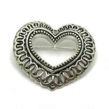 Broschen und Anstecknadeln aus Echtschmuck mit Herz-Schliffform für Damen