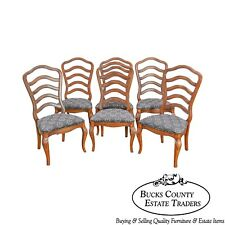 French Country Style Set of 6 Ladderback Dining Chairs  sc 1 st  eBay & French Country Chairs for sale | eBay