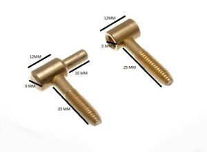 Anuba Hinge Lift Off Screw In 36mm EB Brassed 2 Hinges 2 Male + 2 F/Male Parts