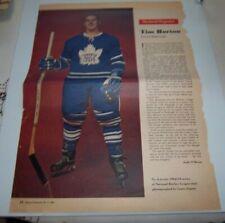 Tim Horton # 6 Weekend  Magazine Photos 1962-63  Toronto Star lot 4