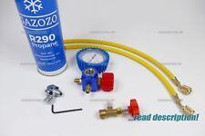 R290 PROPANE REFRIGERANT DIY FRIDGE FREEZER REFILL RECHARGE TOPUP GAS CAN TOOL