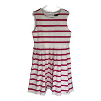 Tommy Hilfiger Girls Dress Sleeveless Pleated Striped A Line Size Medium 10-12