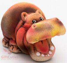 Clay Grog figurine Hippopotamus Hippo souvenir handmade hand painted