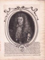 Portrait XVIIe Ernst Rüdiger von Starhemberg Nicolas de Larmessin Graz 1684