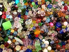 1/4 Quarter Pound Mixed Assorted Glass Beads WHOLESALE Bulk Lot Fast Shipping US