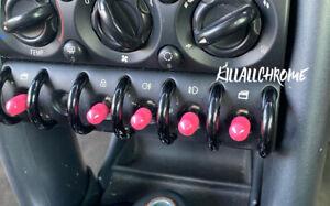 MINI Gen 1 Toggle Switch Covers - Pink - 10x pcs - R50 R52 R53
