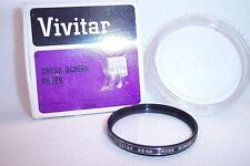 Vivitar 55 mm NEW Cross Screen Screw-In Filter with Case/Box Japan (K-247)
