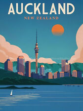 "Auckland New Zealand Vintage Travel Photo Fridge Magnet 2""x 3"" Collectible"