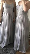 Oasis Grey Blue Bridesmaid Chiffon Maxi Dress 14 BNWT RRP £80