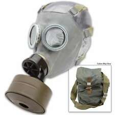 Polish Military Nos Surplus Gas Mask Mc-1 W/ Filter & Canvass Bag