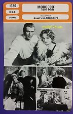 US Romantic Drama Morocco Gary Cooper Marlene Dietrich French Film Trade Card