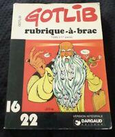 Paperback French Book Gotlib Rubrique à Brac Tome 2 ( 1e P) Dargaud 16/22 No.32