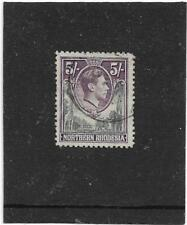 NORTHERN RHODESIA 1938 ELEPHANTS & GIRAFFE 5/- GREY AND VIOLET  SG.43 FINE USED