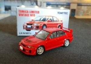 Tomy tomica mitsubishi lancer evo 1/64 limited vintage  neo