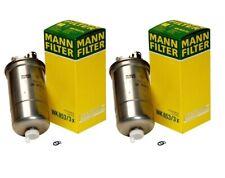 NEW Pair Set of 2 Fuel Filters Mann for VW Passat Beetle Golf Jetta L4 Diesel