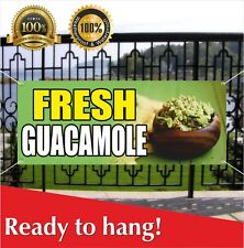 Fresh Guacamole Banner Vinyl / Mesh Banner Sign Flag Many Size Carnival Food