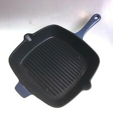 Grill Pan Cast Iron Matt Blue 26cm Square Excellent Quality Massive Clearance