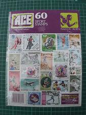 Sellos Ace ~ Sports ~ 60 Paquete De Sello Temático