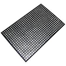 3 x 5 Foot Industrial Commercial Kitchen Restaurant Rubber Floor Mat BLACK