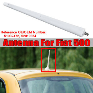 Fit For Fiat 500 Colour White Aerial Mast / Antenna 51932472 !! KN! 1 **