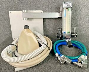 Porter MXR 2000 Dental Nitrous Gas Regulator Flowmeter W/ Mounting Bracket Hoses