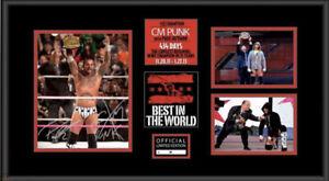 WWE Signed Huge Plaque CM Punk & Paul Heyman Best in the World 434 Days #/434