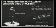 1984 Mannheim Steamroller Christmas album release vintage print ad