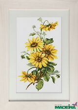Counted Cross Stitch kit Luca-S Yellow Flowers #BM3003