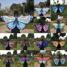 TESSUTO MORBIDO Ali di farfalla da fata Donna Ninfa FOLLETTO COSTUME FESTA