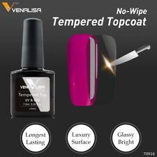 Venalisa No-Adherente no limpie capa superior Vidrio Templado UV LED Gel Nail Polish UK