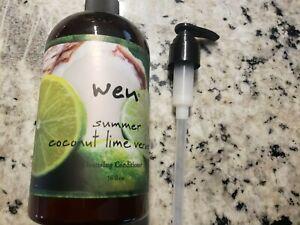 Wen Cleansing Conditioner Shampoo 16oz SUMMER COCONUT LIME VERBENA Chaz Dean