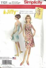Simplicity 1101 Jiffy Misses Dress Retro 60s A-line Uncut Pattern in Sizes 6-14