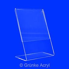 L Aufsteller Acryl Werbe Prospekt Ständer Preis Display A3 A4 A5 A6 7