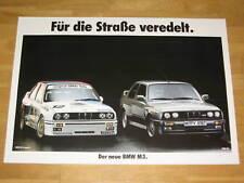 BMW M3 E30 POSTER 19 - FÜR DIE STRAßE VEREDELT - DIN A1 ORIGINAL VINTAGE IN MINT