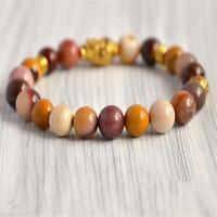 8mm Rainbow Moukaite Beads Handmade Mala Bracelet Prayer Japa Classic Buddhism