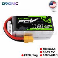 OVONIC 1000mAh 100C 6S 22.2V Lipo Battery XT60 Plug For Drone FPV Danaus Vortex