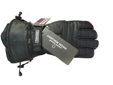 SNOW MOTO & SKI GLOVES, Winter, Thinsulated leather, Raincover,  New With Tags