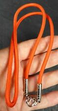 Thai braided ORANGE cord necklace for 1 Buddha Amulet / Pendant  26 inches long.