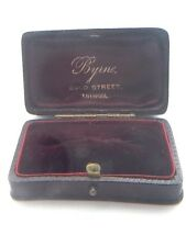 Superb Antique Purple Leather Jewellery Box Brooch Presentation Case -For Brooch