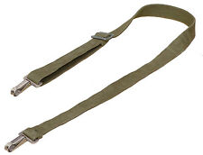 """Swiss Army Shoulder Strap With Metal Clips sling olive strong webbing 100cm 40"""""""