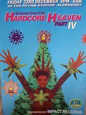 hardcore heaven rave flyer from the thythm station Aldershot 23.12.1994