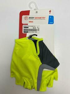 new Specialized Body Geometry BG GRAIL GLOVES Men's NEON YELLOW Large