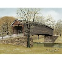 12 x 16 Country Covered Bridge Art Print - Old Humpback Bridge by Billy Jacobs