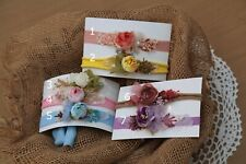 Newborn Baby Girls Flower Headband, Stretch Tiebacks for Photo Prop Photography