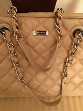 Kate Spade Beige Gold Coast - Maryanne Quilted Leather Chain Strap Shoulder Bag