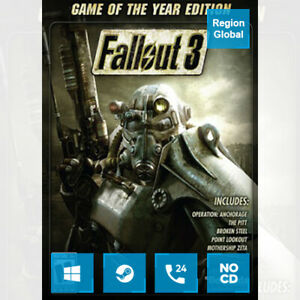 Fallout 3 GOTY for PC Game Steam Key Region Free