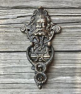 Cast Iron Mythical Gothic Face Vintage-Style Door Knocker