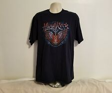Hard Rock Cafe John Lennon Imagine Theres No Hunger Adult Blue XL TShirt